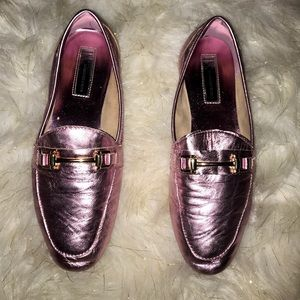 INC Leather Cotton Candy Pink Loafers - Like New